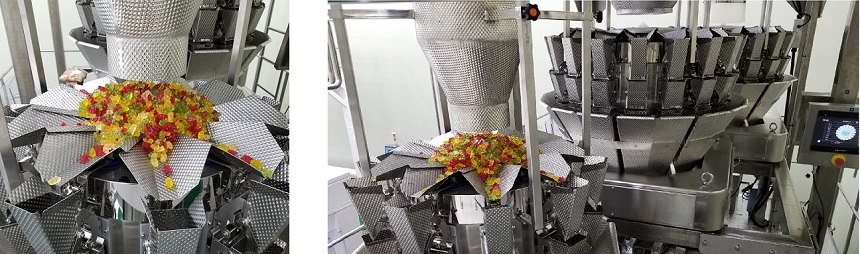 Gummy candy multi-head weigher